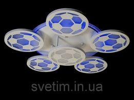 """Светодиодная (LED) люстра """"Футбол"""" с пультом-диммером и синей подс"""