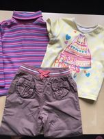 kr Śliczny zestaw dla dziewczynki rozm 92 -spodnie golf koszulka