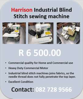 Harrison Industrial Blind Stitch Sewing Machine For Sale
