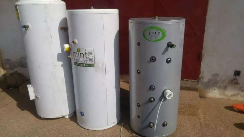 TWIN COIL WATER HEATER CYLINDER ( SOLAR& ELECTRICITY) 0