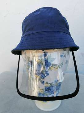 Bucket Hats with 400 Micron Protective Face Shields and Dust Masks