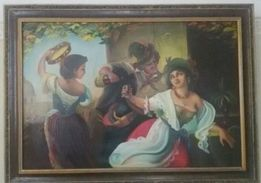 Картина маслом на полотне 60х-70х год.