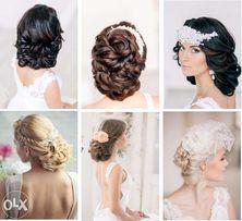 Плетение кос, детские, свадебные и вечерние прически.