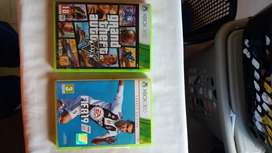 Fifa 19 and Grand Theft Auto V for Xbox 360
