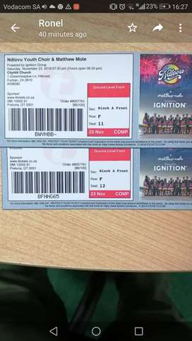 NDLOVU YOUTH CHOIR TICKETS FOR SALE R300