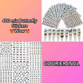 Butterfly Nail Art Stickers #ABC