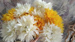 Искусственные цветы стрелиция, орхидея,астры,розы,гибискус, см фото