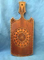 Drewniana deska do krojenia rzeźbiona ozdobna deska cepelia folklor
