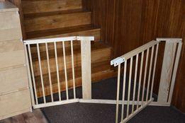 Barierka drewniana bramka DO schodów,kominek 182cm sosnowa nowa