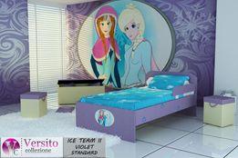 Łóżko z księżniczkami,łóżko dla dziecka,dziecięce z materacem 10 cm