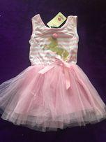 Платье детское для девочки с единорогом. 100см.