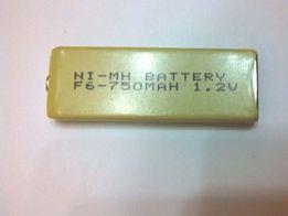 Аккумуляторы призматические F6-750 мА/ч, 1.2В, NI-MH/h, аналог GP 8M.