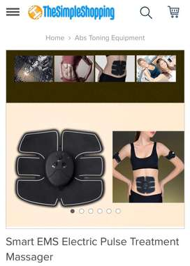 Abs EMS rechargeable stimulator. Fitness and Gym equipment. Toning abs