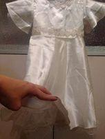 Платье белое нарядное праздничное 3 - 4 года 104 см. снежинка