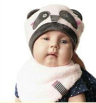"Комплект ""Панда"" (шапка+шарф), Dembo House (ДембоХаус) шапочка зимний"