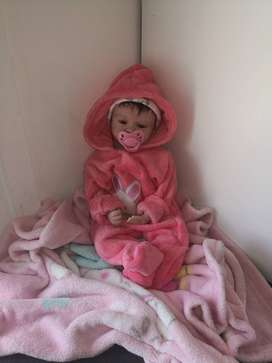 Silicone baby doll + clothes