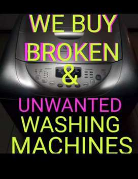 Broken Washing Machines, we Buy them