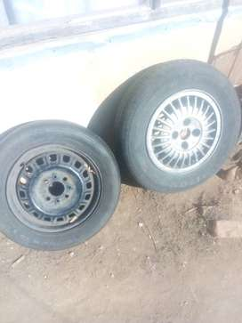 13 inch Rims with tyres