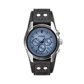 Fossil Coachman Chronograph Black Leather Watch