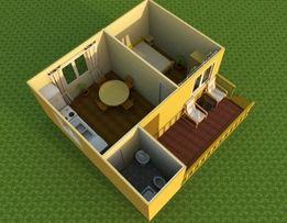 Дачный домик 6х6 с террассой.Эконом предложение.