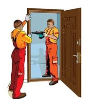 Установка ( монтаж ) входных квартирных, металических дверей!