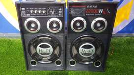 Karaoke Speakers (two) system -Bluetooth enabled 2200W