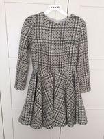 Sukienka Pepitka Mint Label Kloszowana XS