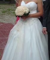 Suknia ślubna na sprzedaż: CENA: 650 zł halka i 2koła