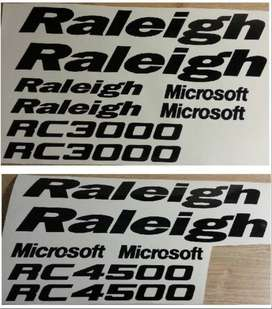 Raleigh RC model frame stickers decals kits