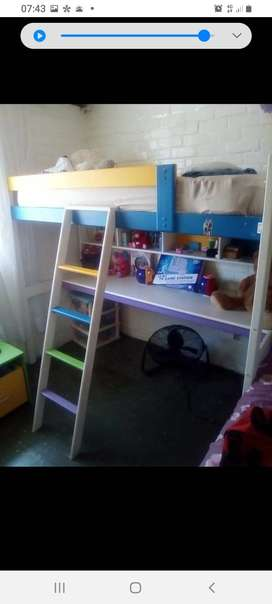 Bunk desk bed and toy box