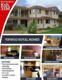 Fully furnished 4 bedroom mansionate in vipingo 0
