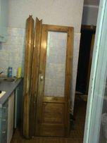 НАТУРАЛЬНАЯ сосновая межкомнатная дверь с наличниками и замками