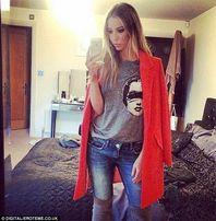 Женское пальто Oasis морковного цвета оригинал