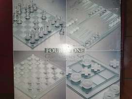 Four in one glass game set