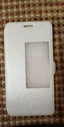 Чехол кожанный белый для телефона Huawei Honor 6, Case