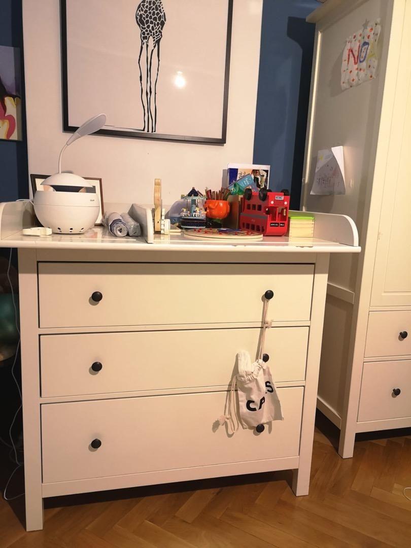 Ikea komoda + deska jako prebalovaci pult 0