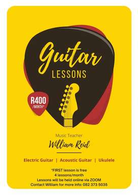 PROFESSIONAL ONLINE GUITAR LESSONS