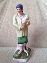 """Фарфоровая статуэтка """"Женщина с ребёнком""""(горькая доля)"""