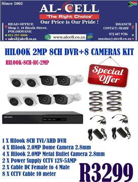 HILOOK 8CH DVR + 8 CAMERA KIT