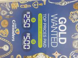 Gold unwanted