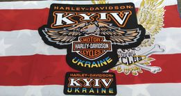 Термо нашивки на жилет Harley Davidson