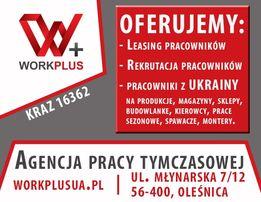 Pracowniki z Ukrainy - rekrutacja i leasing | Agencja pracy WorkPlus