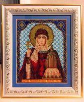 Икона Святой Равноапостольной Княгини Ольги, вышитая бисером