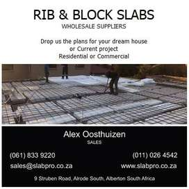 Rib and block slabs from R260 per square