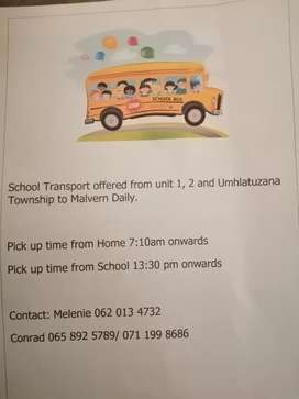 School Transport Offered