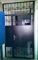 Решетчатые двери, тамбурные перегородки,решетки на двери,дверь решетка