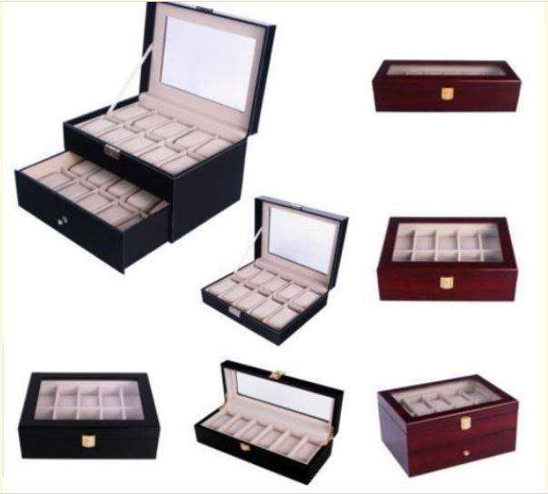 Gift Ideas! Watch Display Cases- 10 grids; 20 grids; 6 grids 0