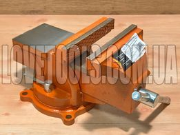 Тиски слесарные 150 мм поворотные с наковальней SPARTA лещата 186275