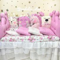Бортики звери , защита , постельное в кроватку