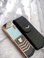 Мобильный телефон копия Vertu Signature Design Rose Gold.